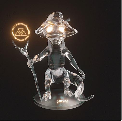 Figurine NFT de Jphi, Oracle chez Les Collectionneurs.