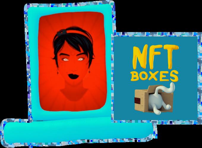 image Pranksy NFT boxes